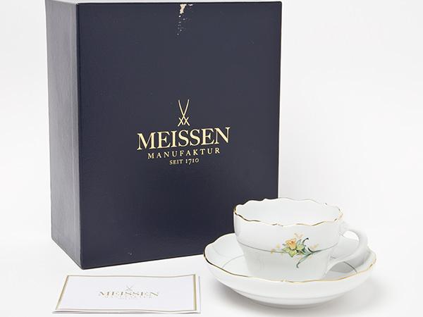 【送料無料】マイセン(スイセン)ティーカップ&ソーサーお茶のふじい・藤井茶舗