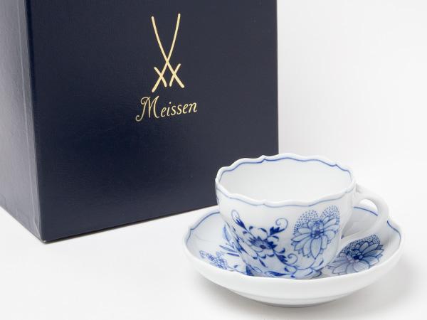 マイセン ブルーオニオン ティーカップ&ソーサーお茶のふじい・藤井茶舗