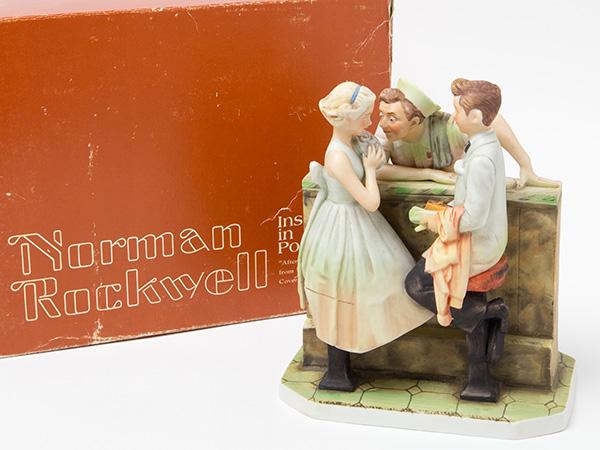 ノーマンロックウェル 陶器人形 ダンスパーティーの後でお茶のふじい・藤井茶舗