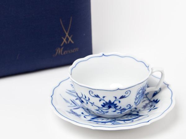 マイセンブルーオニオンカップ&ソーサーお茶のふじい・藤井茶舗