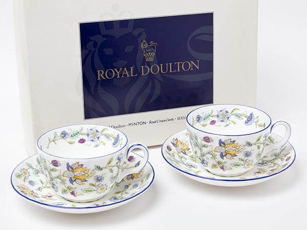 ミントンMINTON ハドンホールカップ&ソーサー ペア(ブルー)2客お茶のふじい・藤井茶舗