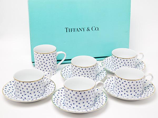 ティファニー ダンシングT コーヒーカップ5客 マグカップセットお茶のふじい・藤井茶舗