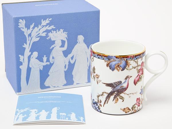 ウェッジウッド WEDGWOOD MORNING PHEASANT キジ 花柄 マグカップお茶のふじい・藤井茶舗