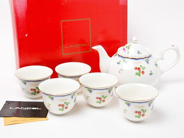 ランセル LANCELフルーツ ティーカップセット(ポット1個+湯呑5客)お茶のふじい・藤井茶舗