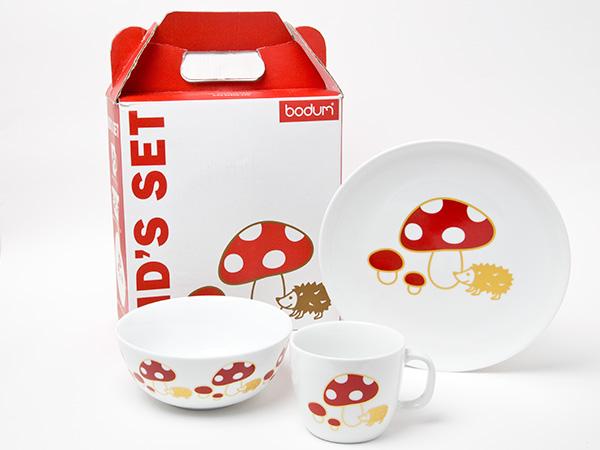X-CB055 bodum ボダム キッズセット 陶器 食器3点セットお茶のふじい・藤井茶舗