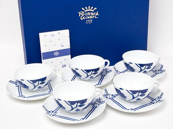 リチャードジノリ マルコポーロカップ&ソーサー5客 お茶のふじい・藤井茶舗