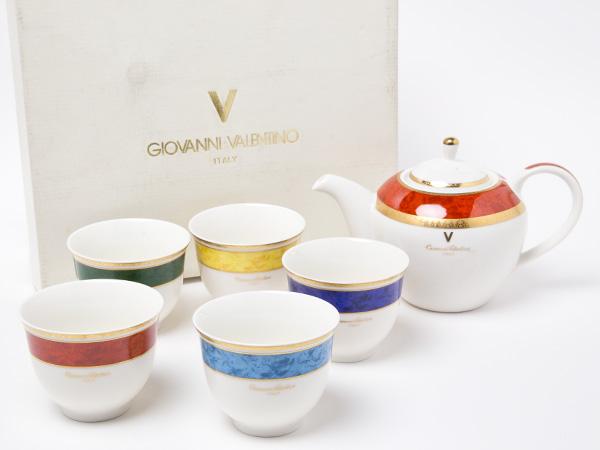 【送料無料】ジョバンニ バレンチノ ティ-カップ5客セット お茶のふじい・藤井茶舗