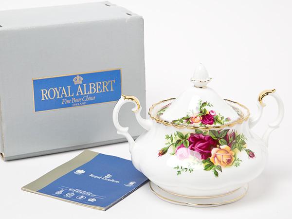 ロイヤルアルバート カントリーローズ シュガーポット お茶のふじい・藤井茶舗