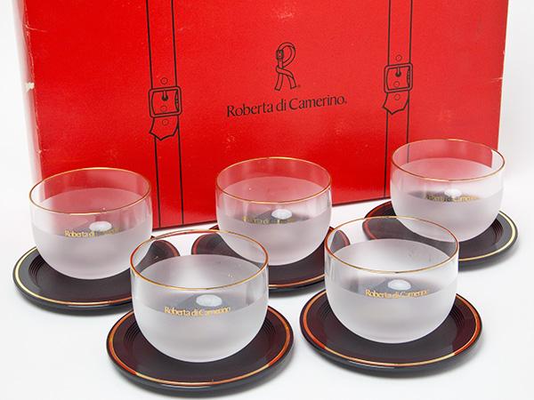 ロベルタ ディ カメリーノ ガラス茶器5客セット お茶のふじい・藤井茶舗