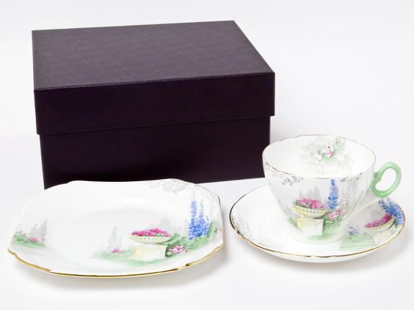 シェリー ガーデン カップ&ソーサー&プレート(トリオ) shelley-5お茶のふじい・藤井茶舗