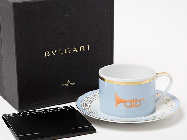 ブルガリ コンチェルト「トランペット」ティーカップ&ソーサーお茶のふじい・藤井茶舗