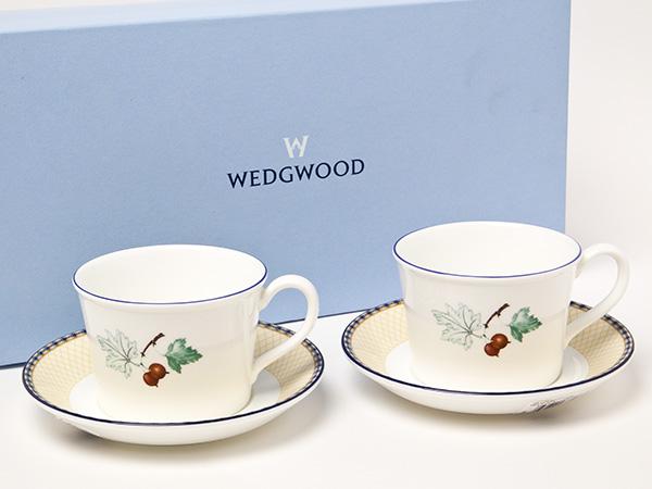 ウェッジウッド フルーツシンフォニー カップ&ソーサー2客 お茶のふじい・藤井茶舗