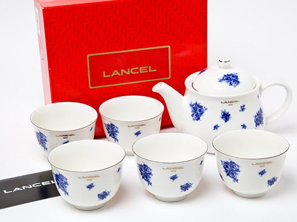 ランセル LANCEL 花柄ティーセット(急須1個+湯呑5客) お茶のふじい・藤井茶舗