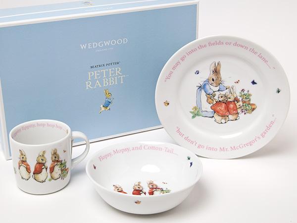 【送料無料】ウェッジウッド ピーターラビット ガールズ3ピースセット お茶のふじい・藤井茶舗