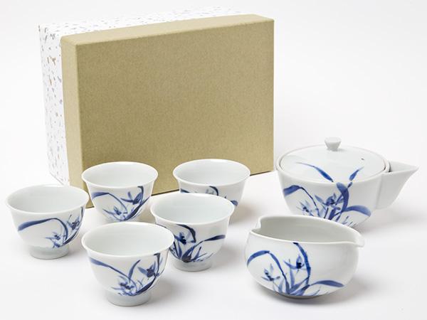 【送料無料】玉露煎茶揃 蘭(ラン) 昭阿弥お茶のふじい・藤井茶舗