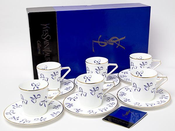 イブサンローラン リボン カップ&ソーサー6客セットお茶のふじい・藤井茶舗