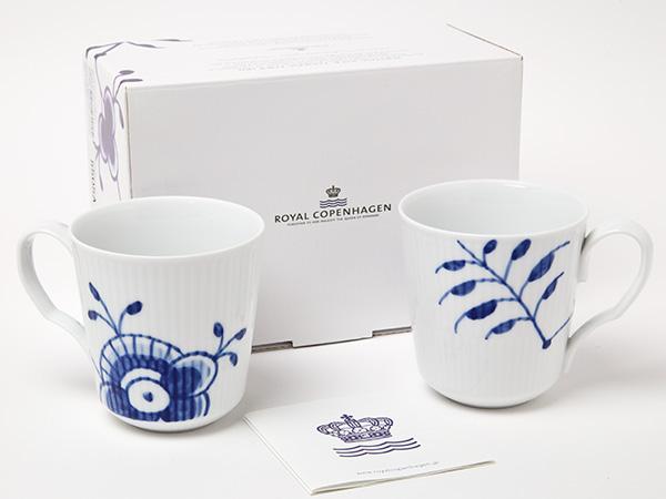 ロイヤルコペンハーゲン フルーテッドメガ ペアマグカップお茶のふじい・藤井茶舗