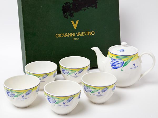 ジョバンニ バレンチノ ティーセット(ティーポット1個+カップ5個)お茶のふじい・藤井茶舗