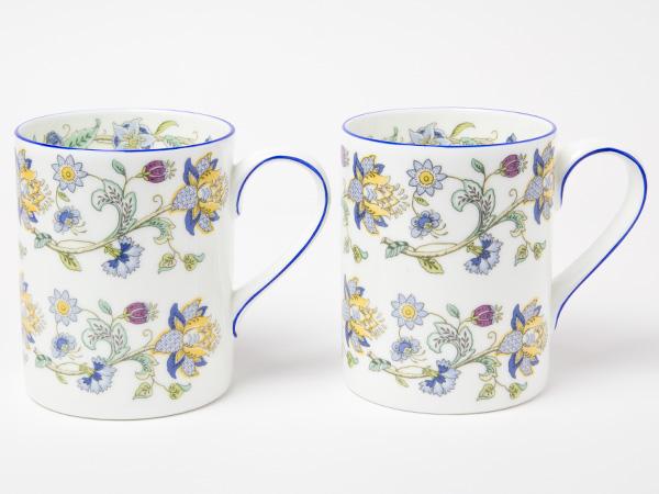 ミントン ハドンホールブルーブランチセット(マグカップ2個 オパールディッシュプレート1個)お茶のふじい・藤井茶舗
