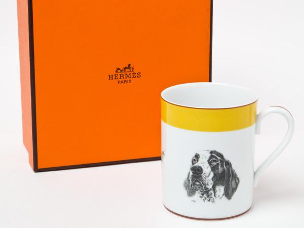 エルメス ジャーマンポインター犬・キジ マグカップお茶のふじい・藤井茶舗