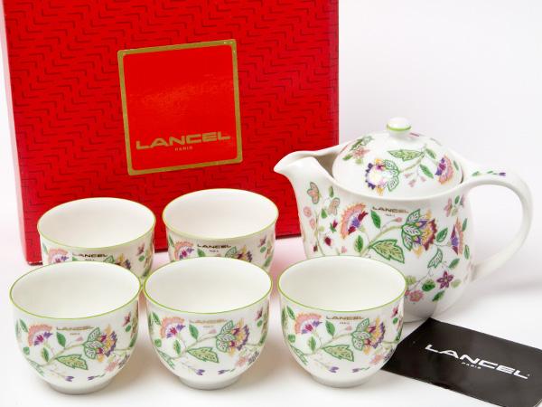 ランセル LANCEL フラワー ティーセット(ポット1個+湯呑5客)お茶のふじい・藤井茶舗