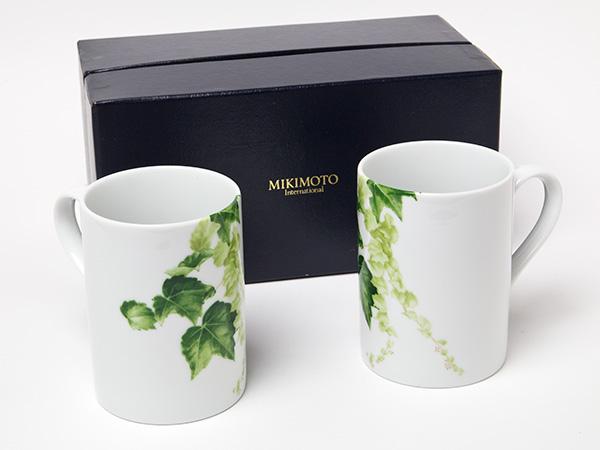 MIKIMOTO ミキモトインターナショナル ペアマグカップお茶のふじい・藤井茶舗