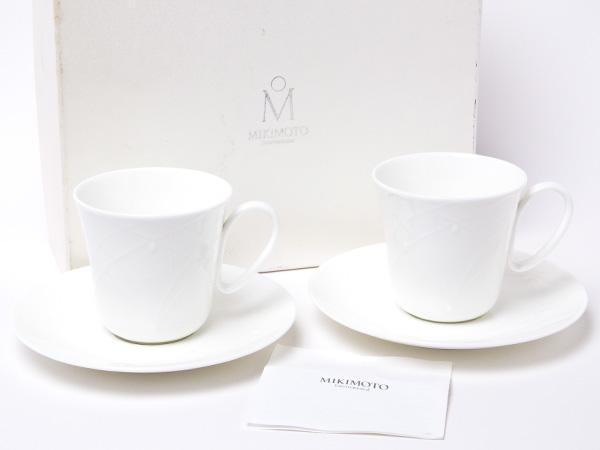 【送料無料】MIKIMOTO ミキモトインターナショナル 月の女神シンシアパール カップ&ソーサー 2客お茶のふじい・藤井茶舗