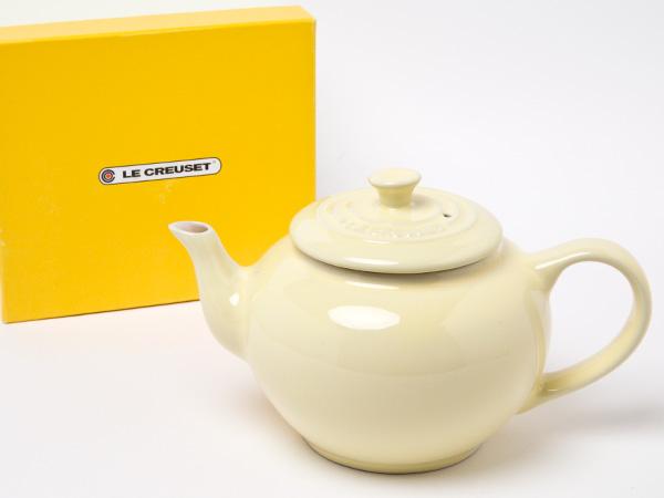 買収 LE CREUSET 新品 ル クルーゼ ティーポットフィルター付き お茶のふじい カスタードイエロー 藤井茶舗