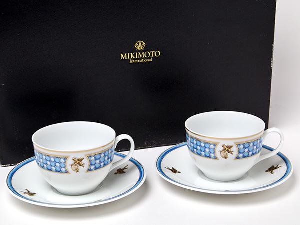 MIKIMOTO ミキモトインターナショナル エンゼル 天使のオーケストラカップ&ソーサー2客セットお茶のふじい・藤井茶舗