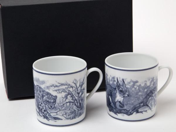 HERMES エルメス 絵柄リスとヒョウ マグカップお茶のふじい・藤井茶舗