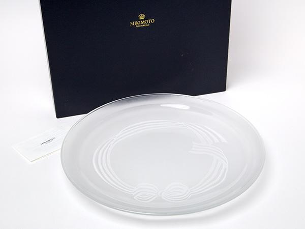 MIKIMOTOミキモトインターナショナル フロストガラス ディナープレートお茶のふじい・藤井茶舗