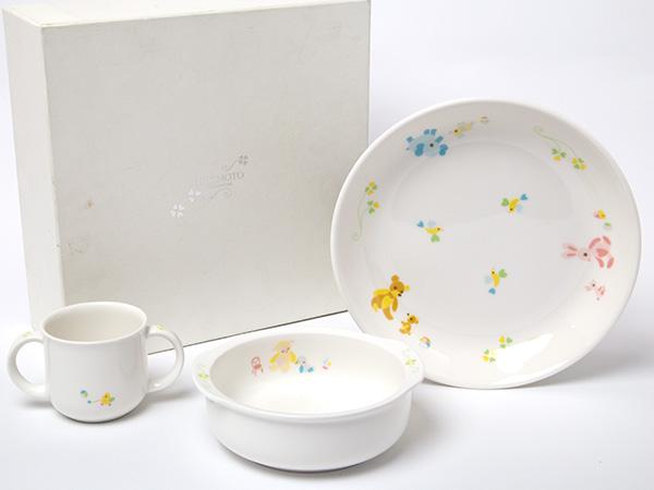 【送料無料】MIKIMOTOミキモトインターナショナル ガールズ食器3点セットお茶のふじい・藤井茶舗