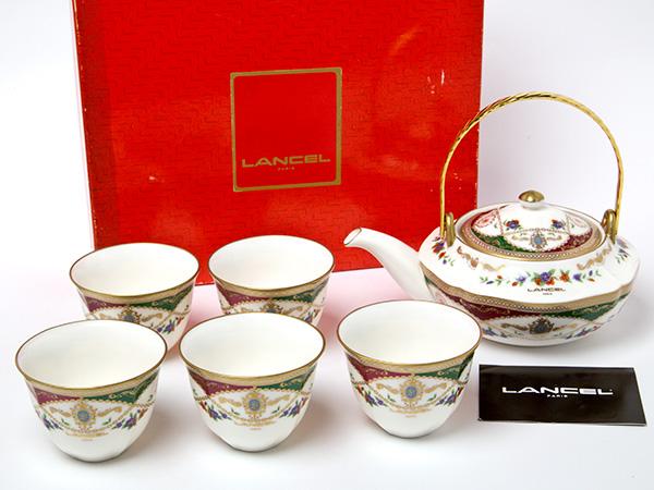 LANCEL ランセル ピンクローズのティーセット(ポット1個+カップ5客)お茶のふじい・藤井茶舗