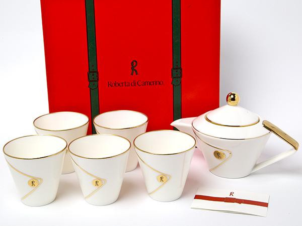 Roberta di camerino ロベルタ ティーセット(ポット1個+カップ5個)お茶のふじい・藤井茶舗