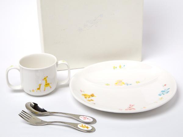 MIKIMOTO ミキモトインターナショナル ボーイズ&ガールズ スイートプレート食器4点セットお茶のふじい・藤井茶舗