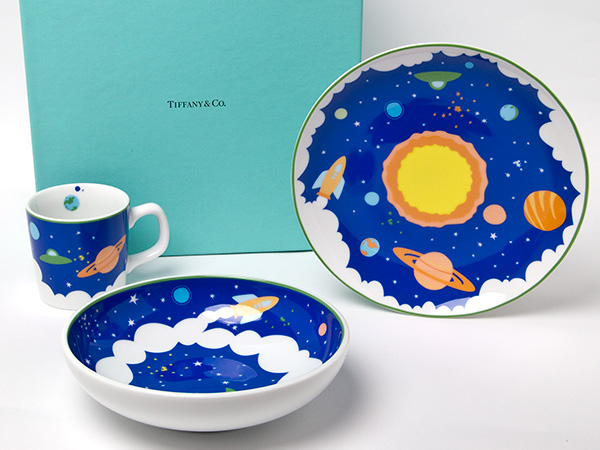 【送料無料】TIFFANY ティファニーCOSMIC宇宙 キッズ食器3点セットお茶のふじい・藤井茶舗