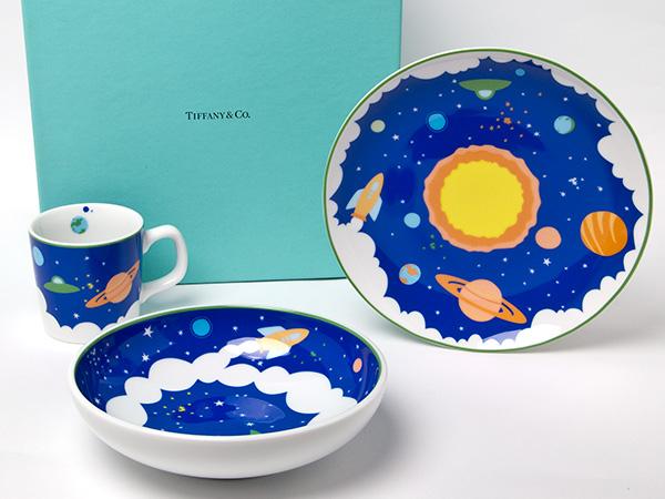 TIFFANY ティファニーCOSMIC宇宙 キッズ食器3点セットお茶のふじい・藤井茶舗