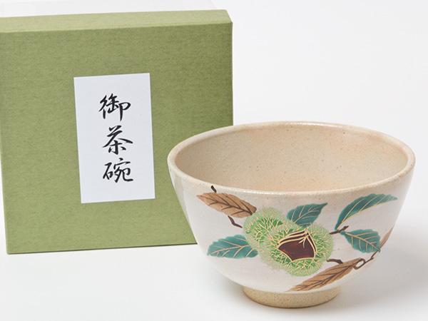 抹茶碗 粉引栗 瑞豊お茶のふじい NEW売り切れる前に☆ 藤井茶舗 国産品