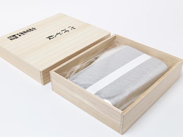 【送料無料】紙釜敷 檀紙 銀もみ 木箱入りお茶のふじい・藤井茶舗
