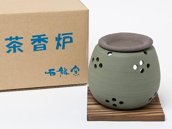 茶香炉 緑泥 松皮 エ1212お茶のふじい・藤井茶舗