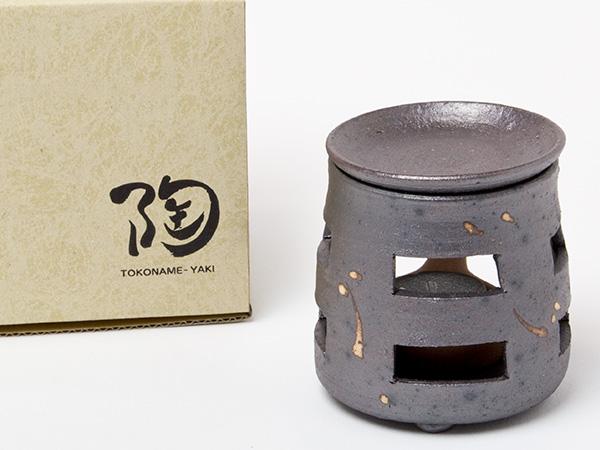 茶香炉 焼〆 釉流し エ1221お茶のふじい・藤井茶舗
