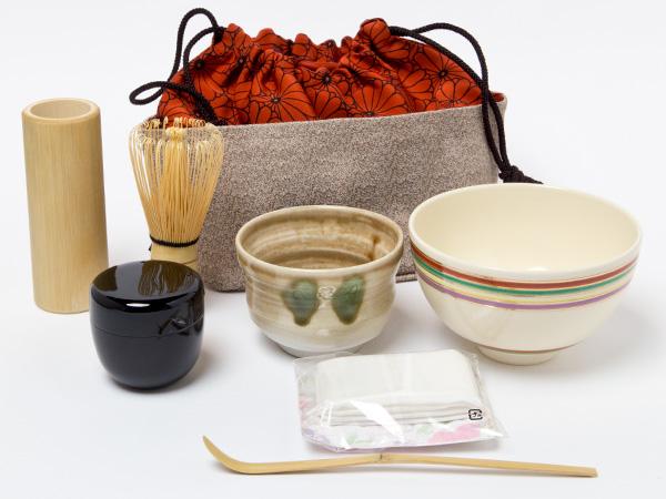 茶籠セット(野点セット)黄瀬戸お茶のふじい・藤井茶舗