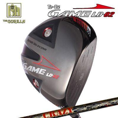 【カスタムモデル】GORILLA GOLF To-Be Game LD-02 DRIVER CRAZY LY-300 Dynamiteゴリラゴルフ トゥービー ゲーム LC-02 ドライバー クレイジー LY-300 ダイナマイト