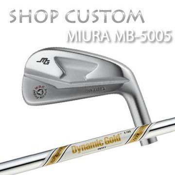 【カスタムモデル】MIURA MB-5005 IRON Dynamic Gold AMT Tour Issue三浦技研 MB-5005 アイアン ダイナミックゴールド AMT ツアーイシュー6本セット(#5~PW)