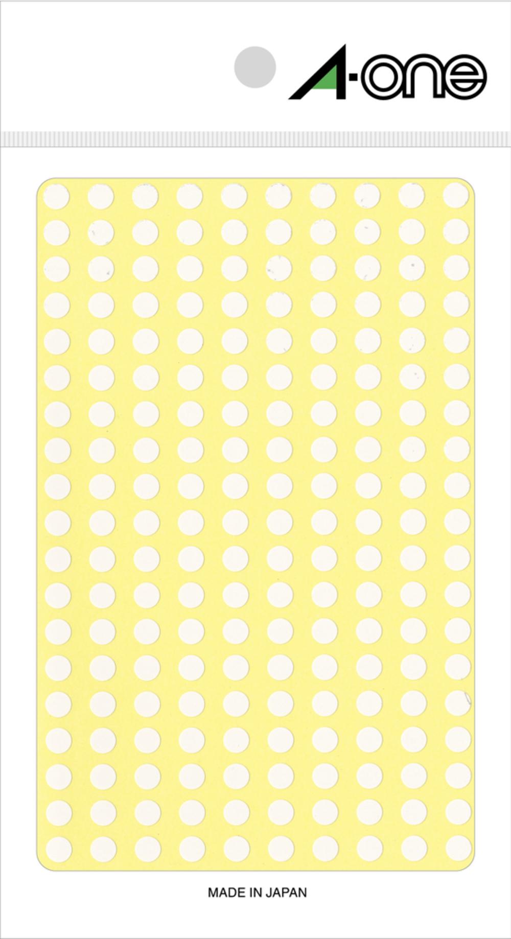 代金引換不可 名前シール 商品ラベル 宛名ラベル インデックスラベル エーワン カラーラベル 5mm丸 白 9シート×200面 超定番 1800片 07070 aone 印刷用 シール ラベル 白色 シール紙 ラベルシール 敬老の日 即納送料無料 光沢コート紙 丸 脱毛用 丸型 松本洋紙店 ほくろ隠し ステッカー