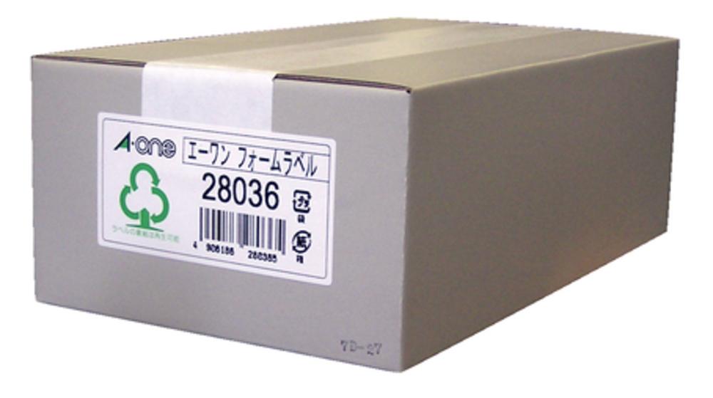 エーワン フォーム荷札 5 1/2×10 4面 500折 (2000片) 28036