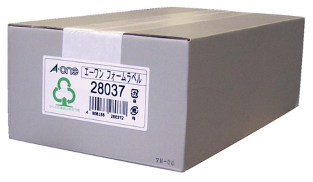 エーワン フォーム荷札 5 1/2×10 4面 500折 (2000片) 28037