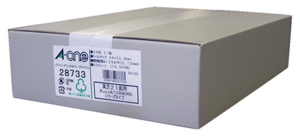 エーワン パソコン&ワープロラベル プリンタ兼用 東芝21面 500シート 28733