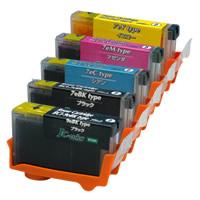 【リサイクルインク】キヤノン BCI-7e+BCI-9BK 5色マルチパック(4個セット)