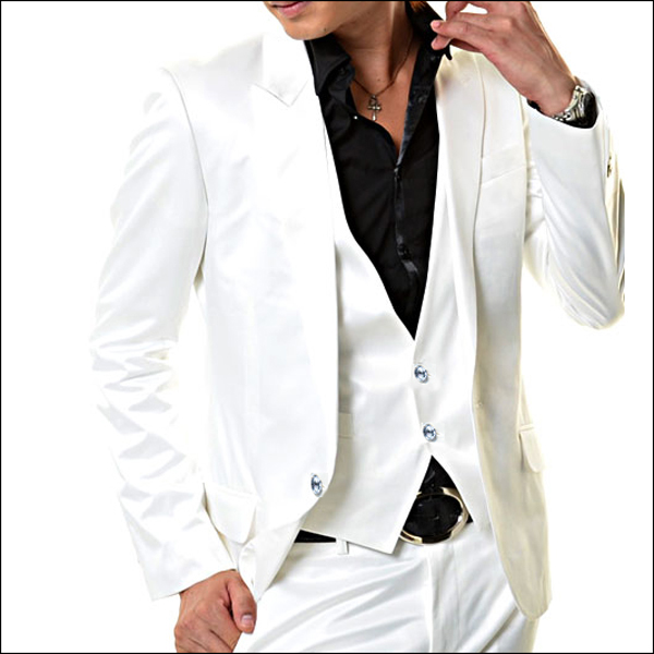 スーツ,セットアップ/結婚式スーツ,NewWhite Prince 3p,ホストスーツ,結婚式スーツ